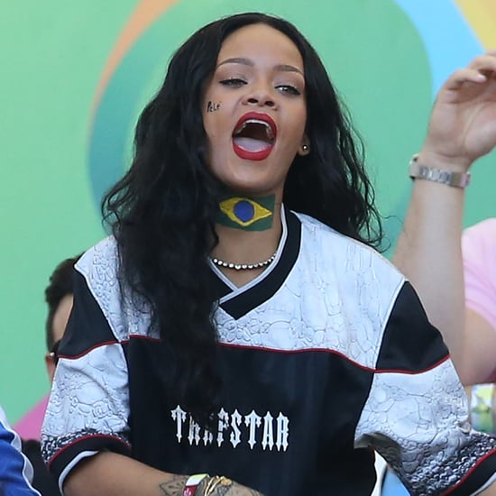 Pictures Of Rihanna at 2014 FIFA Soccer World Cup Final