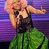 Nicki Minaj accepted an American Music Award.