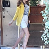 Miranda Kerr went to a business lunch at the Sunset Tower Hotel.
