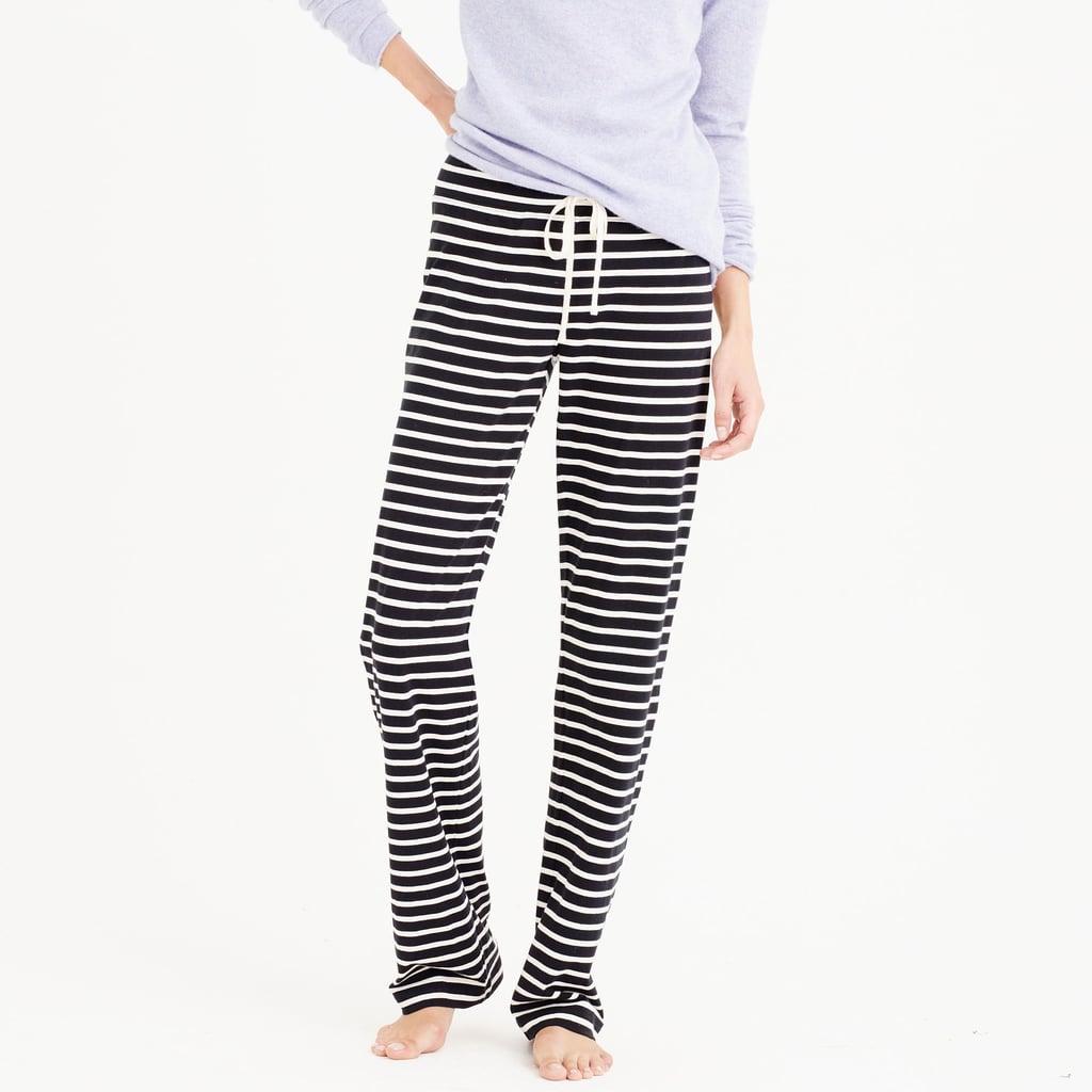 J.Crew Dreamy Cotton Pant in Stripe ($60)
