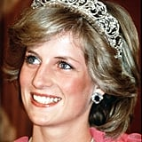 While attending a banquet in Australia in April 1983, Diana wore the Spencer family tiara and diamond and sapphire jewels given to her by the Crown Prince of Saudi Arabia.