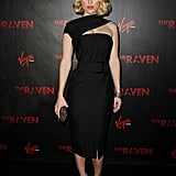 Her latest is a straight-up sexy LBD by Donna Karan for The Raven's premiere in LA in April 2012.