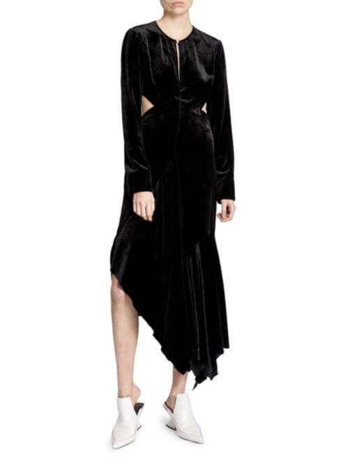 Marques'Almeida Back Cutout Velvet Midi Dress