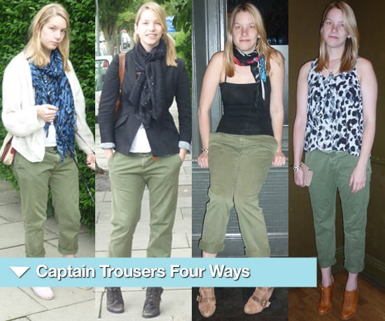 Four Different Ways to Wear Captain Pants