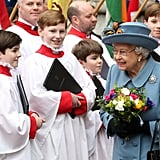 Queen Elizabeth at Commonwealth Day service in 2020.