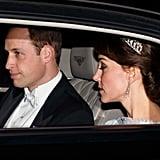 عندما جرّبت تاج الأميرة ديانا خلال مراسم الاستقبال الدبلوماسي