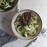 Chinese Cucumber Noodle Salad With Sesame-Crusted Tuna