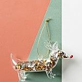 Confetti Filled Dog Ornament
