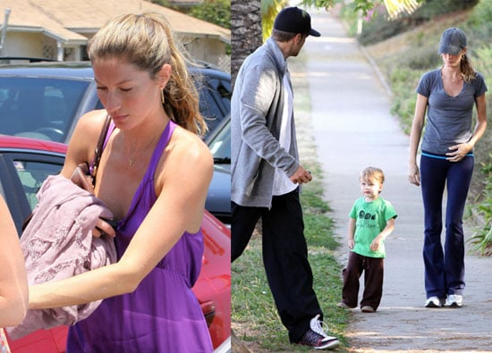 Photos of Gisele Bundchen Pregnant in Purple