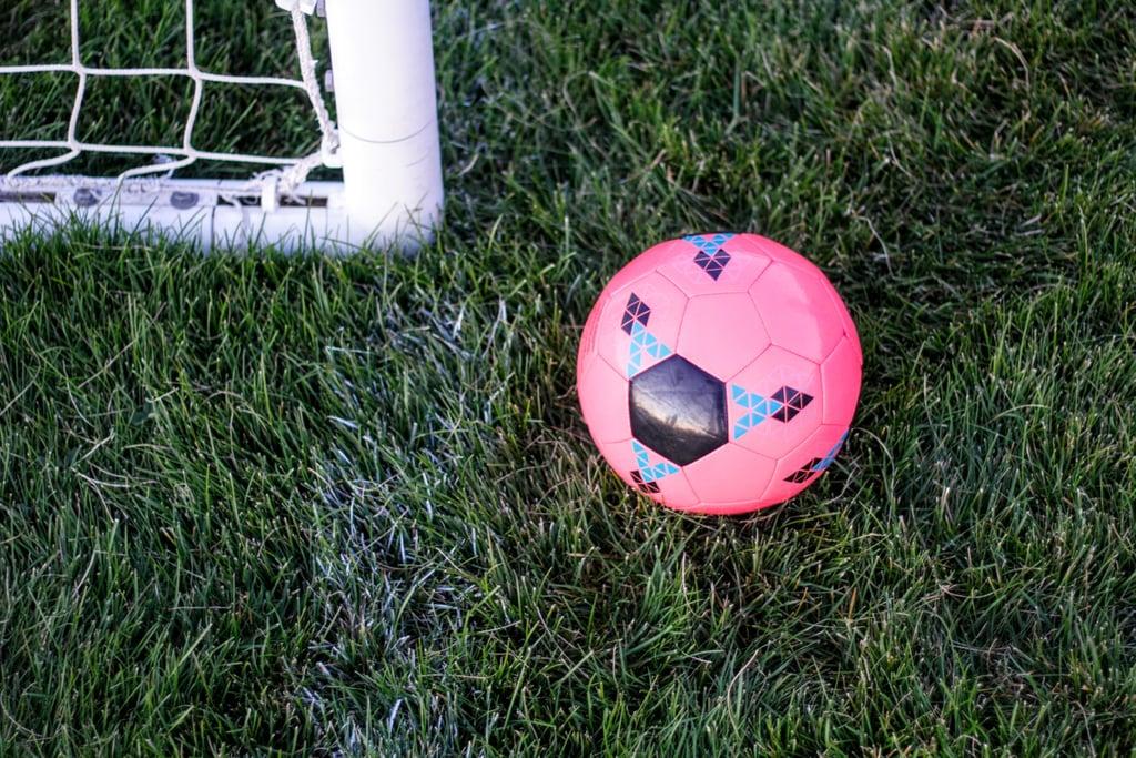 Play soccer.