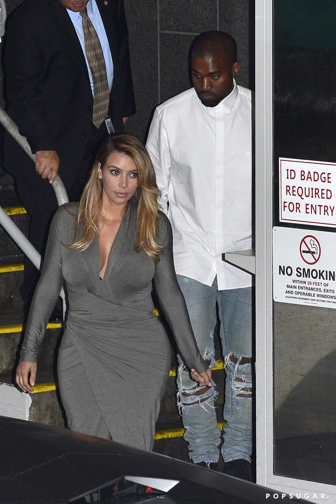 Kim Kardashian and Kanye West left the LA Opera.