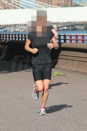 Celebrity Running Along the Thames in London