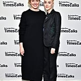 The pair were all smiles attending a TimesTalk conversation on Jan. 4.