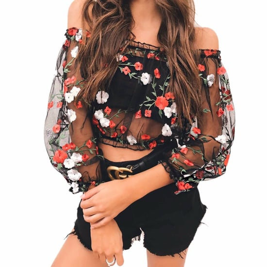 Floral Tops on Amazon