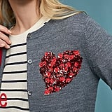 Moth Sequin Heart Cardigan