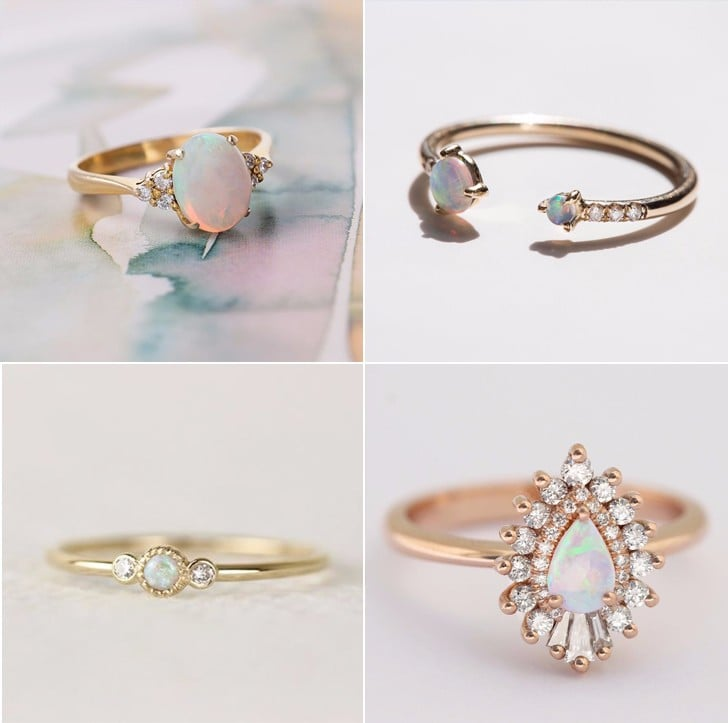 25 opal stone engagement rings for aspiring unicorn brides - Stone Wedding Rings