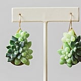 Succulent Dangly Earrings ($38)