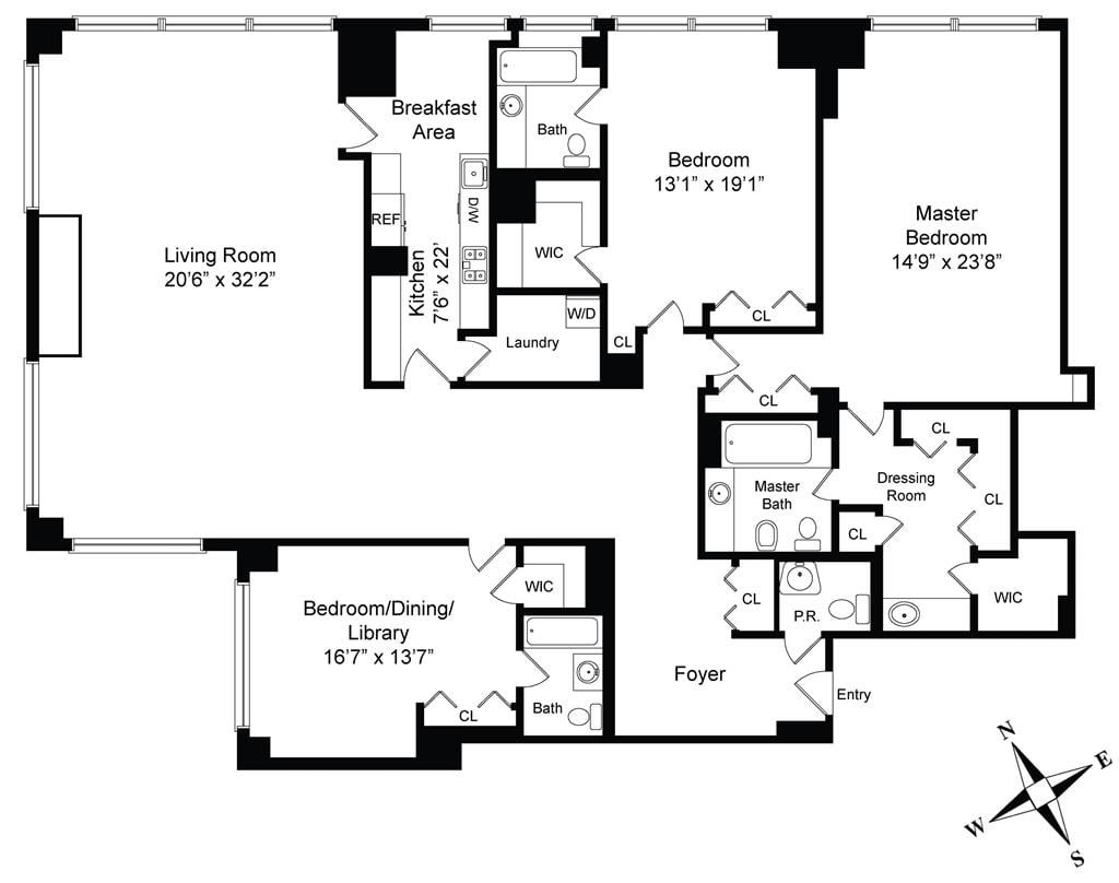 The floor plan of cristiano ronaldo 39 s reported new york for Apartment floor plans new york
