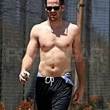 Shirtless Chris Pine