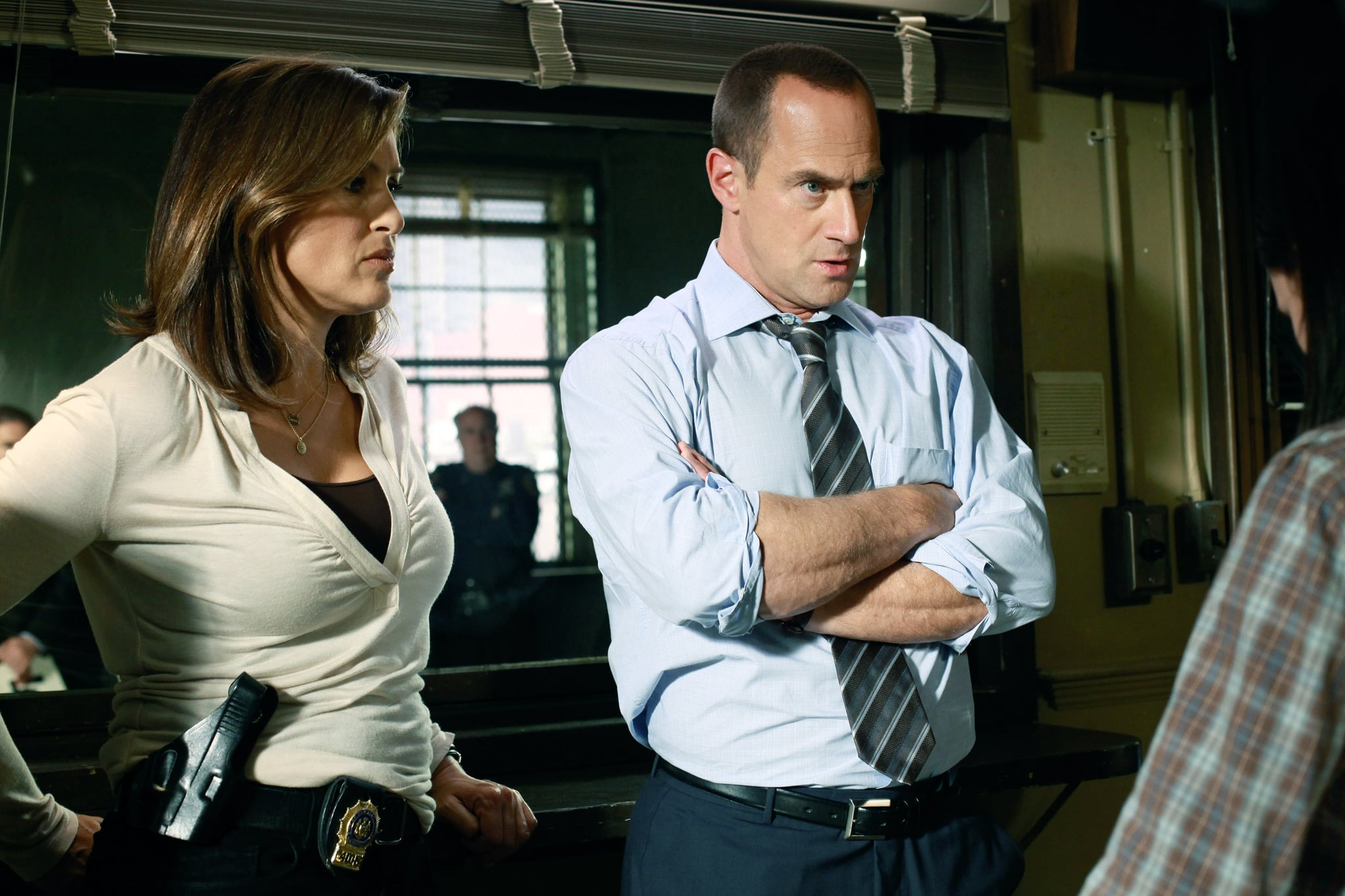 LAW & ORDER: SPECIAL VICTIMS UNIT, (from left): Mariska Hargitay, Christopher Meloni, 'Behave', (Season 12, ep. 1203, aired Sept. 28, 2010), 1999-. photo: Will Hart /  NBC / Courtesy Everett Collection