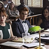 Molly Ringwald, KJ Apa, and Robin Givens as Mary Andrews, Archie, and Sierra McCoy