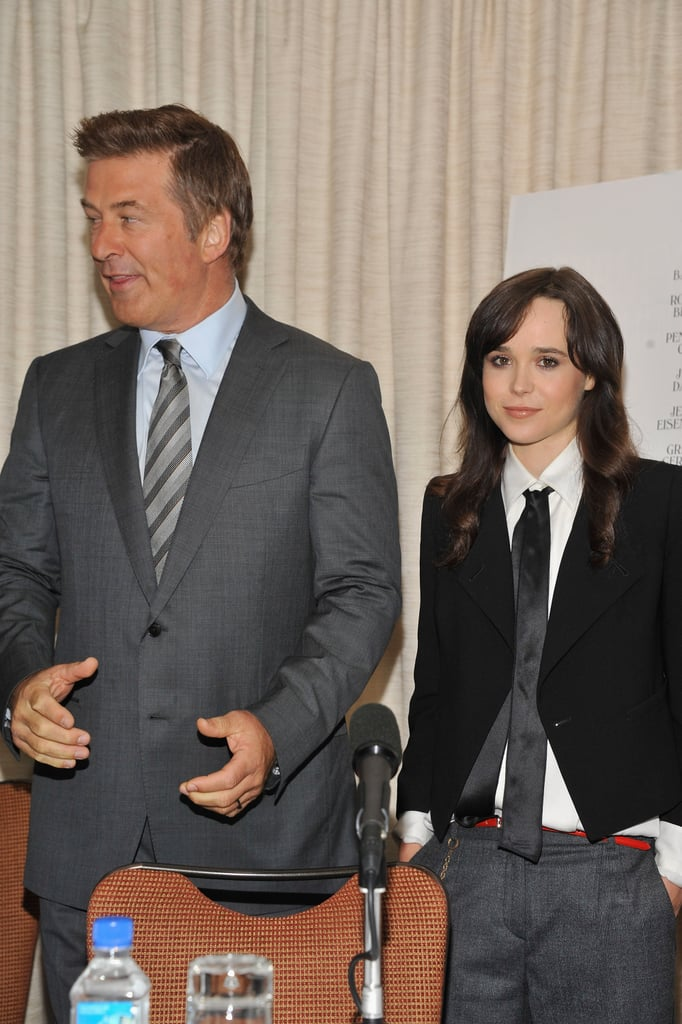 Alec Baldwin and Ellen Page attended a press event in NYC for To Rome With Love.