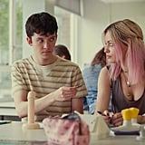 Asa Butterfield as Otis and Emma Mackey as Maeve