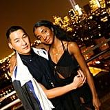At New York's Standard Hotel, Richard Chai and Genevieve Jones enjoyed scenic backdrop.
