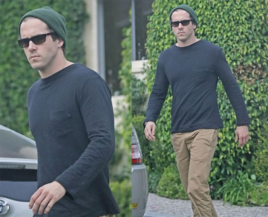 Ryan Reynolds Incognito and Showing Off Hat Collection