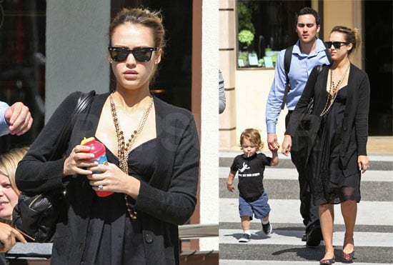 Jessica Alba Has a Little Practice Mommy Time