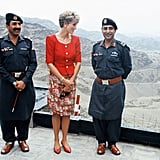 Princess Diana at Khyber Pass in Pakistan