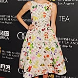 Allison worked a quirky printed A-line Oscar dress for the BAFTA Tea in 2013.