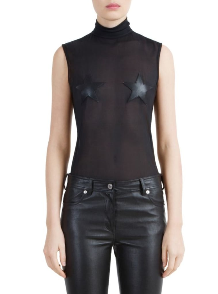Givenchy Technical Tulle Star Bodysuit