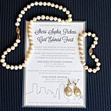 Include metallic details on the invites to get everyone excited for your big day.