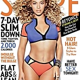 She showed skin in a sporty two-piece for the cover of Shape's April 2013 issue.
