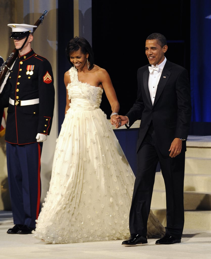 Wearing Jason Wu to the inaugural ball in 2009.