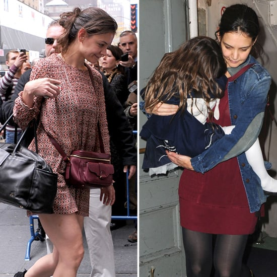 Katie Holmes Wearing a Short Dress With Suri | Pictures