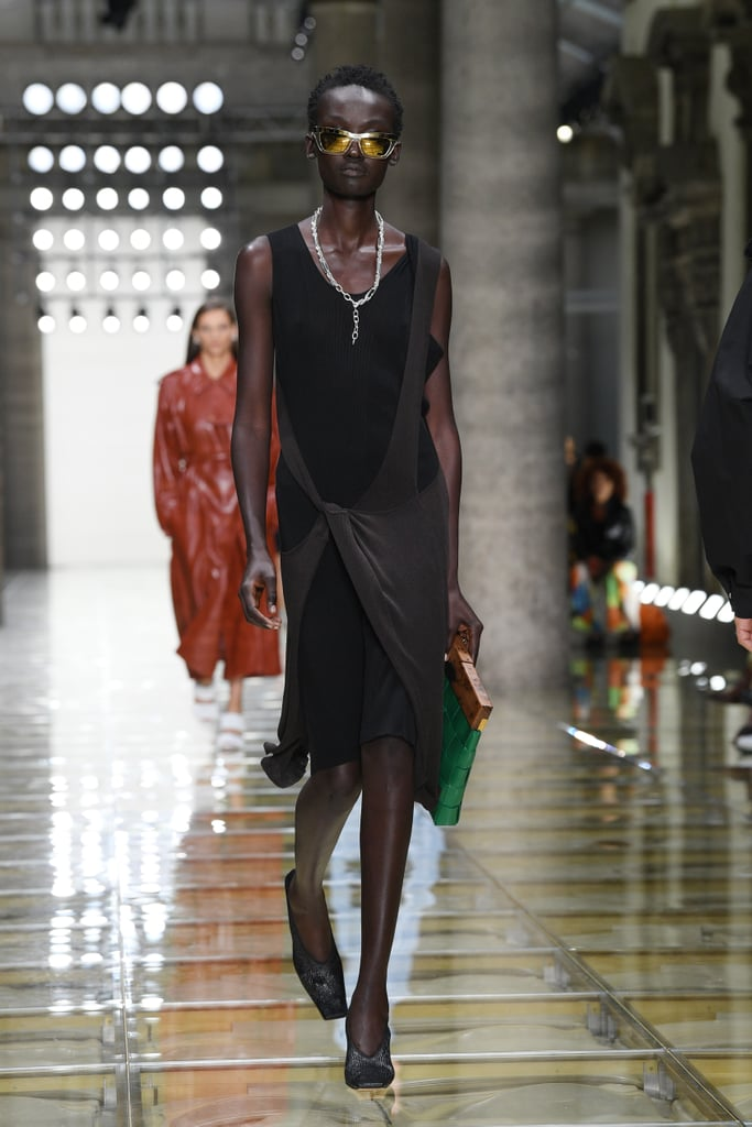 A Bottega Veneta Bag and Shoes on the Runway During Milan Fashion Week