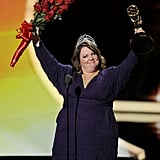 Melissa McCarthy celebrated her 2011 Emmy Award win.