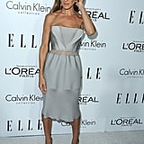 Sarah Jessica Parker wore a Spring 2013 Calvin Klein dress and Manolo Blahnik pumps at the Elle Women in Hollywood Awards in LA.
