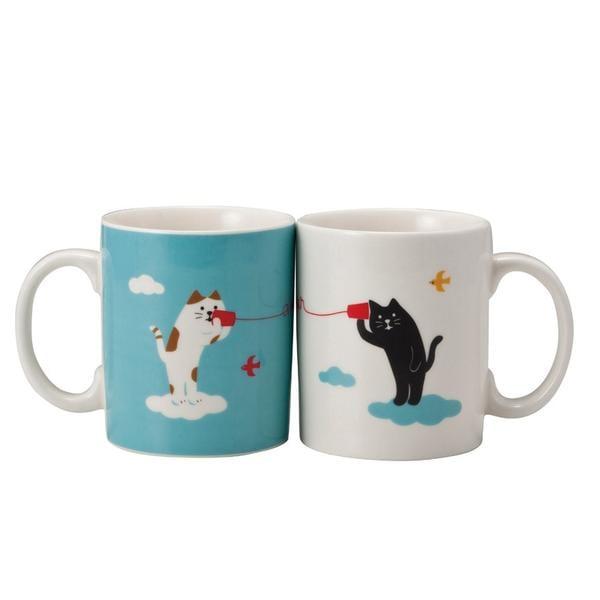 Cat Tea Mug Set