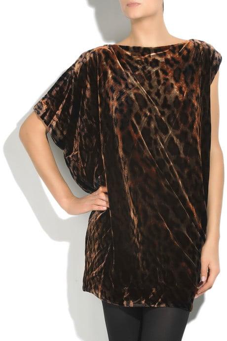 Diane von Furstenberg Velvet Asymmetric Dress