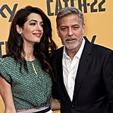 Amal Clooney Wears Crop Top at Catch-22 Rome Premiere