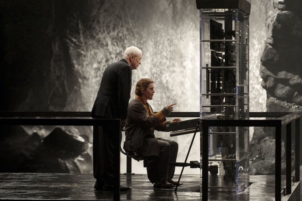 Michael Caine and Christian Bale in The Dark Knight Rises.