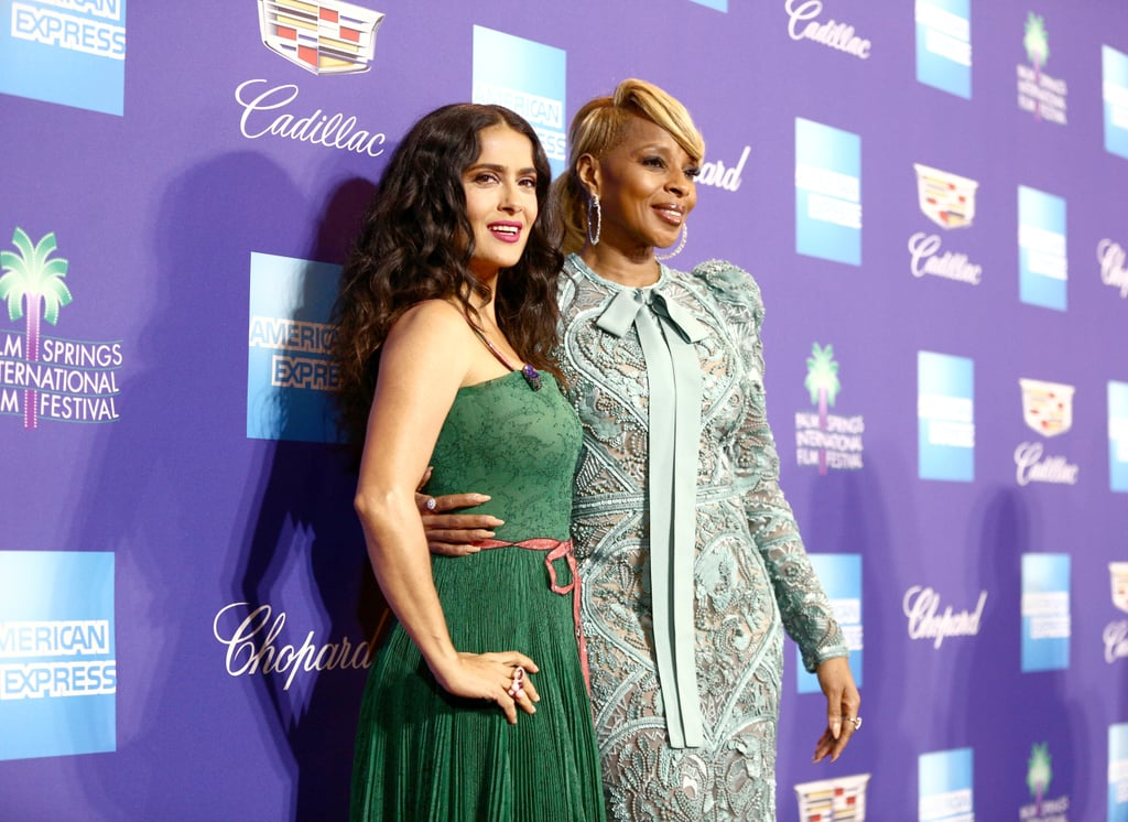 Pictured: Salma Hayek and Mary J. Blige