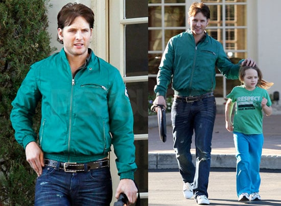 Photos of Peter Facinelli and Daughter Lola at Tennis in LA