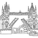 Get the coloring page: London Bridge