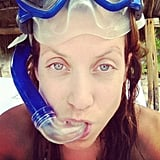 Kate Walsh took a trip to the beach and went snorkeling. Source: Instagram user katwaz