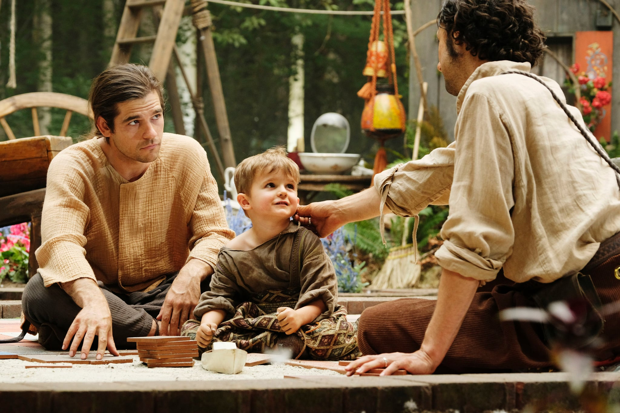 THE MAGICIANS, from left: Jason Ralph, Sebastian Billingsley-Rodriguez, Hale Appleman (back to camera), 'A Life in the Day', (Season 3, ep. 305, aired Feb. 7, 2018). photo: Eric Milner / Syfy / Courtesy: Everett Collection