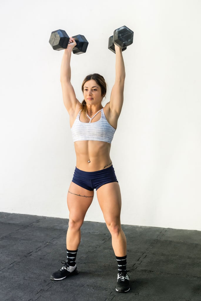 "According to a CrossFit Coach, This Dumbbell Workout Is ""Quite the Shoulder Smoker"""